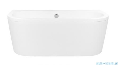 Besco Vista wanna 140x75cm wolnostojąca przyścienna z syfonem #WKV-140-WS