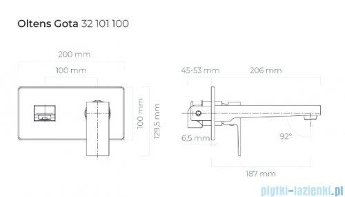 Oltens Gulfoss bateria umywalkowa chrom 32302100