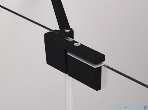 SanSwiss Cadura Black Line drzwi wahadłowe 140cm jednoczęściowe prawe z polem stałym czarny mat CA13D1400607
