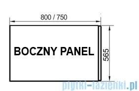 Ravak Panel boczny A 75 + panelkit do wanien CZ00130A00