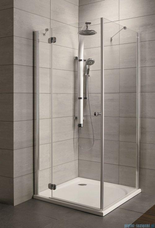 Radaway Torrenta Kdj Kabina prysznicowa 80x90 lewa szkło przejrzyste + brodzik Doros D + syfon