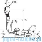 Kludi Rotexa 2000 Zestaw odpływowo-przelewowy G1 1/2 chrom 2140605-00