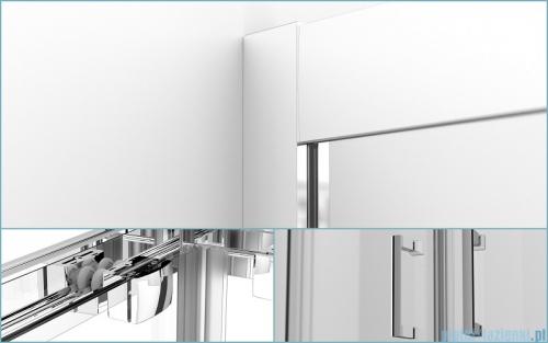 Besco Modern kabina kwadratowa z brodzikiem 80x80cm przejrzyste MK-80-185-C/#BAA-80-K