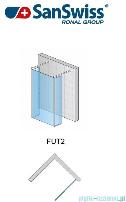 SanSwiss Fun Fut2 kabina Walk-in 160cm profil połysk FUT216005007
