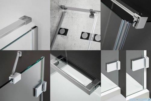 Radaway Euphoria DWJ Drzwi wnękowe 80 lewe szkło przejrzyste 383512-01L/383212-01L
