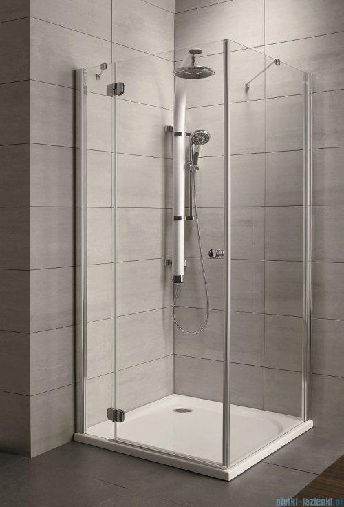 Radaway Torrenta Kdj Kabina prysznicowa 90x100 lewa szkło przejrzyste + brodzik Doros D + syfon