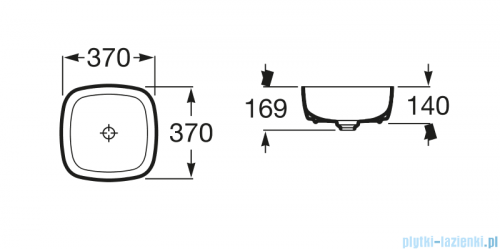 Roca Inspira Soft umywalka nablatowa 37cm Maxi Clean A32750200M