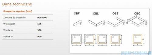 Sanplast Obudowa do brodzika OBL 90x90x17,5 cm 625-403-1030-01-000