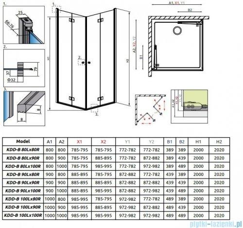 Radaway Essenza New Kdd-B kabina 100cm część lewa szkło przejrzyste 385072-01-01L