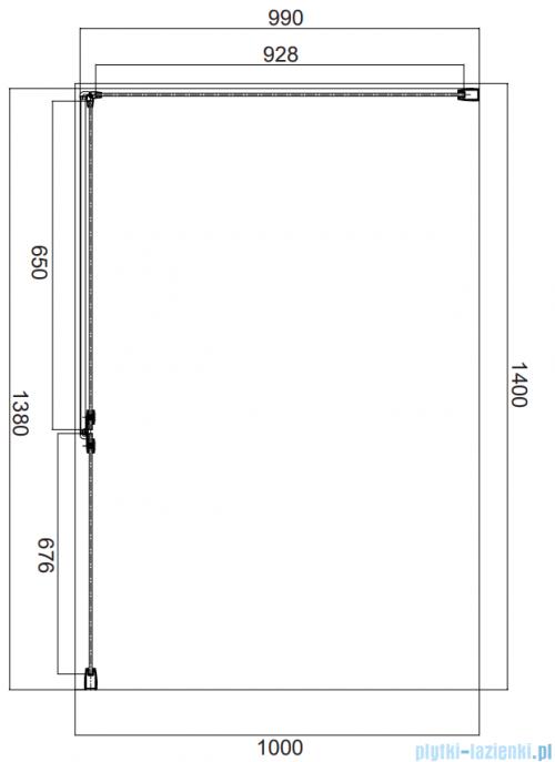 Omnires Manhattan kabina prostokątna 140x100cm szkło przejrzyste MH1410CRTR