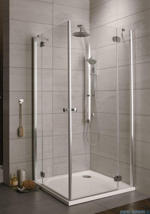 Radaway Torrenta Kdd Kabina prysznicowa 100x80 szkło przejrzyste + brodzik Doros D + syfon ShowerGuard