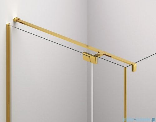 SanSwiss Cadura Gold Line drzwi wahadłowe 90cm jednoczęściowe lewe z polem stałym CA31CG0901207