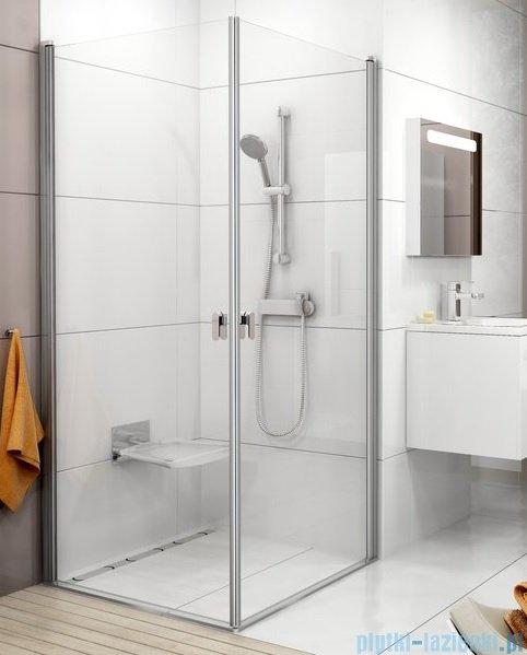 Ravak Chrome CRV1 drzwi prysznicowe 1/2 100cm satyna transparent 1QVA0U01Z1