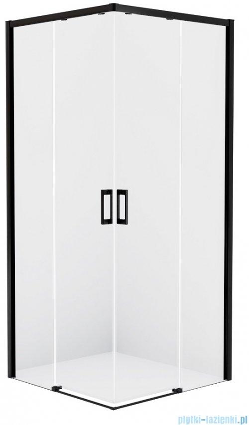 New Trendy Prime Black kabina kwadratowa 100x100x200 cm przejrzyste D-0316A/D-0317A