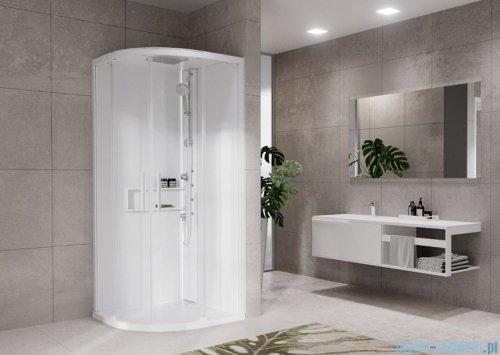 Novellini Glax 2 2.0 kabina z hydromasażem hydro plus 90x90 total biała G22R99M1L-1UU