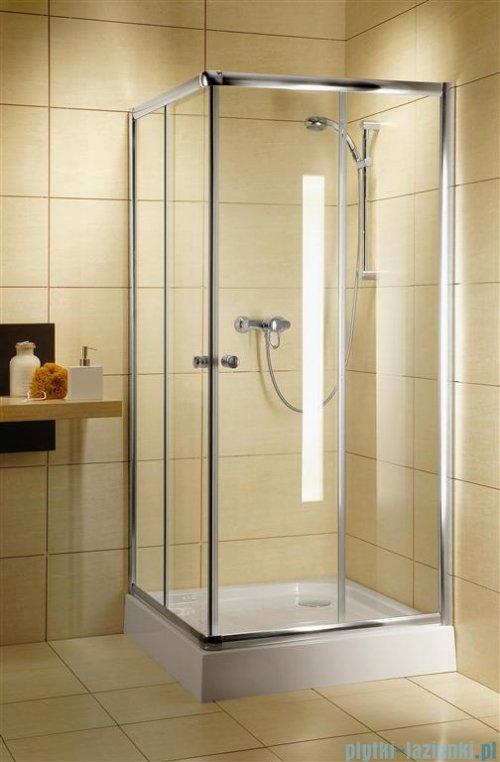 Radaway Classic C Kabina prysznicowa kwadratowa z drzwiami przesuwnymi 90x90 szkło grafitowe