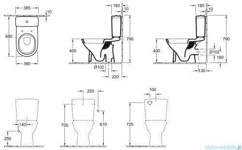 Villeroy&Boch O.novo Miska ustępowa lejowa do WC-kompaktu   56611001