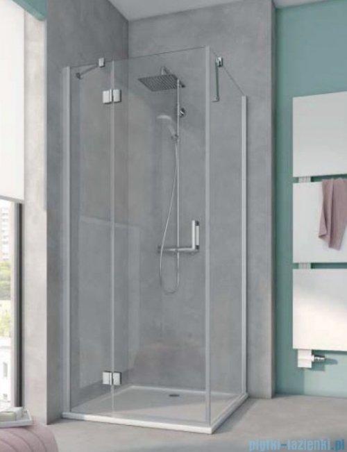 Kermi Osia Kabina prysznicowa 1 skrzydłowa lewa, szkło przezroczyste 80x120 cm OSSTL08020VPK/OSTWD12020VPK