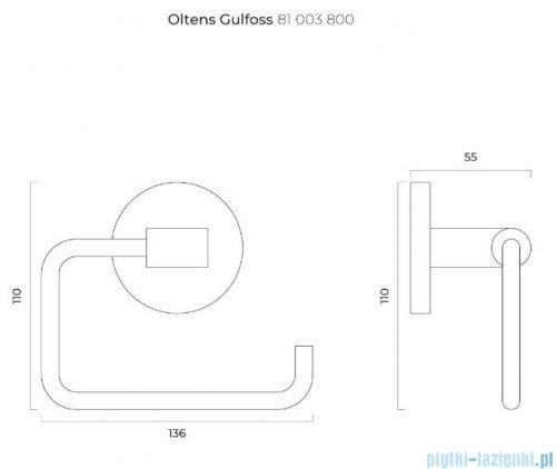 Oltens Gulfoss uchwyt na papier toaletowy złoty 81103800