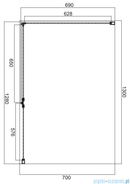 Omnires Manhattan kabina prostokątna 130x70cm szkło przejrzyste MH1370CRTR