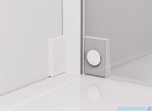 SanSwiss Cadura White Line drzwi wahadłowe 110cm jednoczęściowe lewe z polem stałym biały mat CA13G1100907