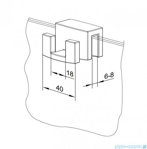 Radaway czarny wieszak na kabinę prysznicową 6mm i 8mm WR-054