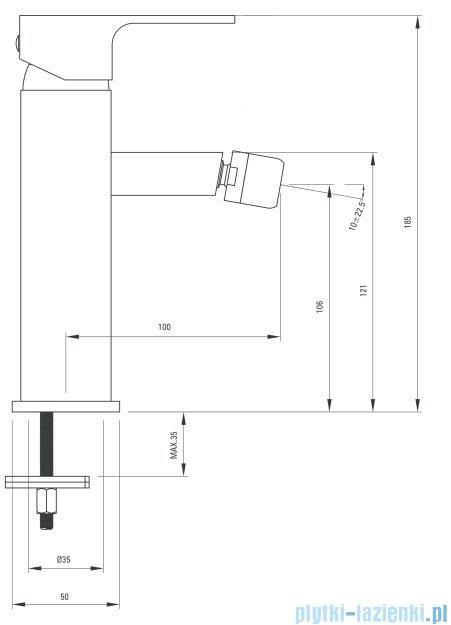 Deante Anemon bateria bidetowa chrom/biel BCZ W310