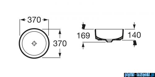 Roca Inspira Round umywalka nablatowa 37cm Maxi Clean A32752300M