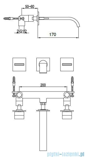 Kohlman Axis podtynkowa bateria umywalkowa QW190N