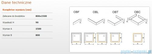 Sanplast Obudowa brodzika OBL 80x150x9 cm 625-400-1380-01-000