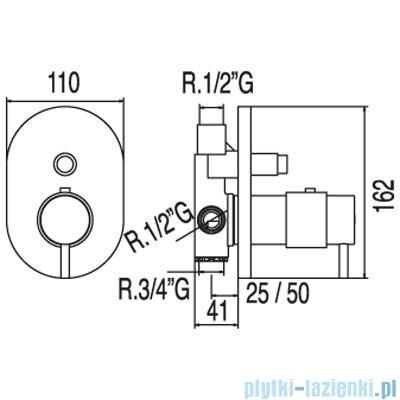 Tres Tresmostatic Bateria termostatyczna podtynkowa kolor chrom 1.90.552