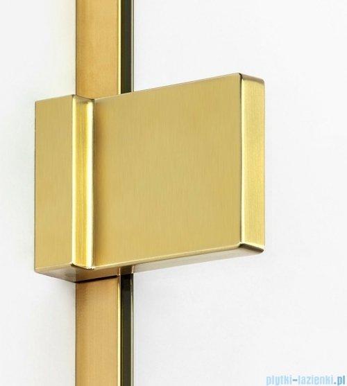 New Trendy Avexa Gold parawan nawannowy z wspornikiem skośnym 80x150 cm przejrzyste EXK-2007