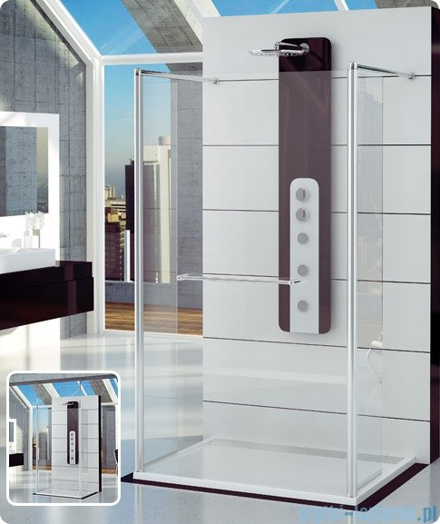 SanSwiss Fun Fut2 kabina Walk-in 140cm profil połysk FUT214005007