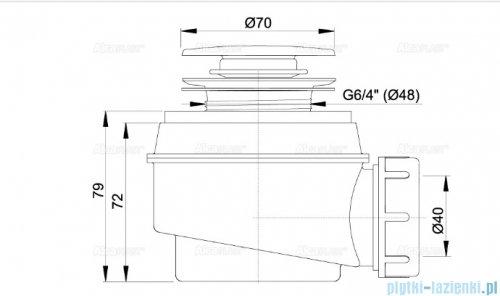 Alcaplast syfon brodzikowy Ø60 CLIK/CLAK  chrom A466-50