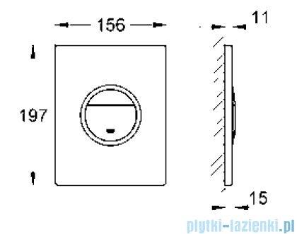 Grohe Nova Cosmopolitan Light przycisk uruchamiający   38809000