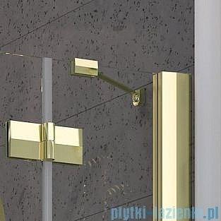 Radaway Almatea PDJ GOLD kabina półokrągła 90x90 Prawa szkło brązowe 30702-09-08N