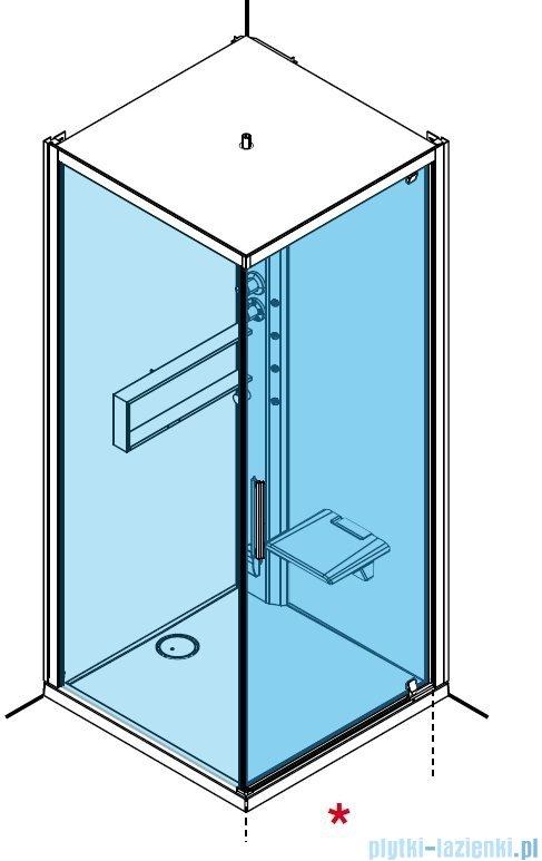 Novellini Glax 2 2.0 kabina z hydromasażem hydro plus 90x90 prawa total biała G22GF99DM1L-1UU