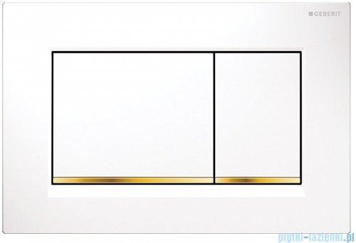 Geberit Sigma30 Przycisk uruchamiający przedni biały/złoty/biały 115.883.KK.1