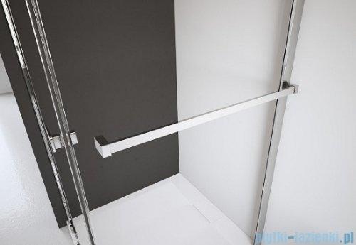 Radaway Kabina prysznicowa Almatea Kdj 80x90 lewa szkło grafitowe + brodzik Doros D + syfon 32146-01-05NL