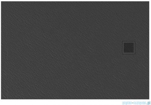 New Trendy Mori brodzik prostokątny z konglomeratu 120x90x3 cm szary