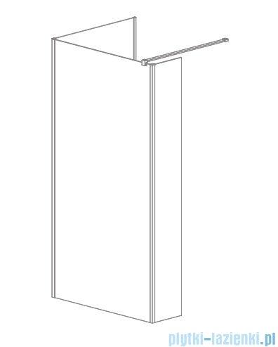 Radaway Modo New IV kabina Walk-in 80x85 szkło przejrzyste 389584-01-01/389085-01-01