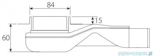Wiper New Premium Tivano Odpływ liniowy z kołnierzem 60 cm szlif rysunek techniczny