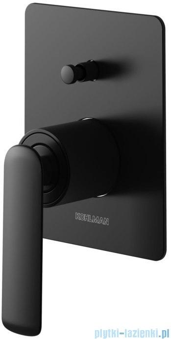 Kohlman Experience black podtynkowa bateria wannowa czarny mat