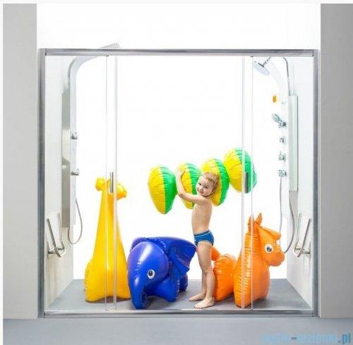 Ravak Blix BLDP4 drzwi prysznicowe 160cm aluminium transparent Anticalc 0YVS0C00Z1