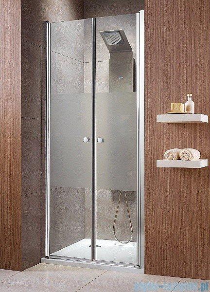 Radaway Eos DWD Drzwi wnękowe 100 szkło intimato + brodzik Delos C + syfon