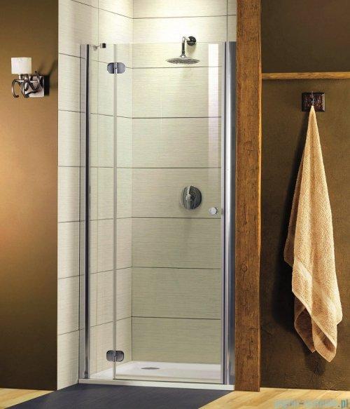 Radaway Torrenta DWJ Drzwi prysznicowe 110 Lewe szkło grafitowe