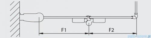Kermi Diga Wejście narożne,połowa kabiny, prawa, szkło przezroczyste, profile białe 100x200cm DI2CR100202AK