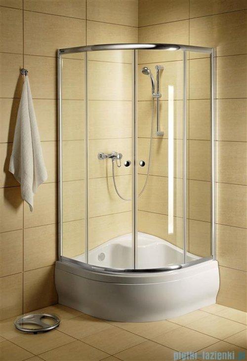 Radaway Classic A Kabina prysznicowa półokrągła z drzwiami przesuwnymi 90x90x170 szkło satinato profile białe