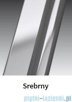 Novellini Drzwi do wnęki z elementem stałym GIADA G+F 108 cm prawe szkło przejrzyste profil srebrny GIADNGF108D-1B