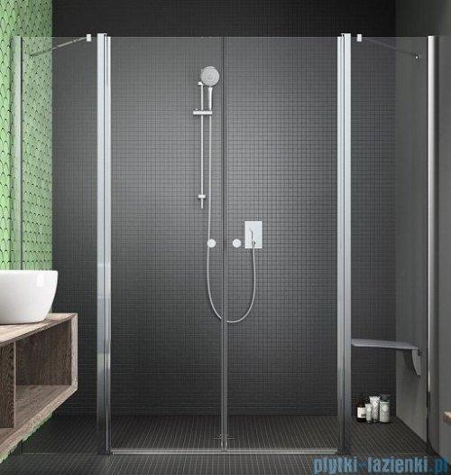 Radaway Eos II Dwd drzwi prysznicowe 140x195 W1 szkło przejrzyste